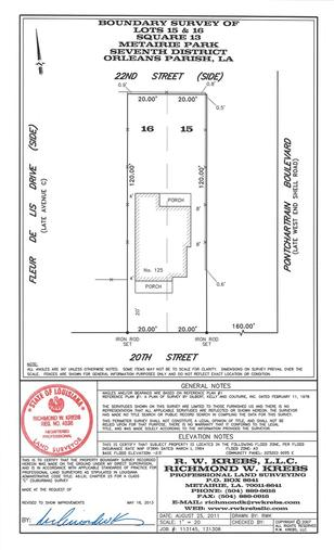 Midway Survey for Builder Packages by Richmond W Krebs and Associates Land Surveying